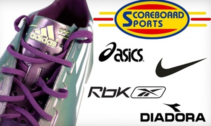 Scoreboard Sports - Multiple Locations: $25 for $50 Worth of Gear and Apparel at Scoreboard Sports