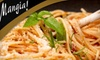 Mangia - Cumru: $15 for $30 Worth of Italian Dinner Fare and Drinks at Mangia! (or $5 for $10 Worth of Lunch) in Mohnton