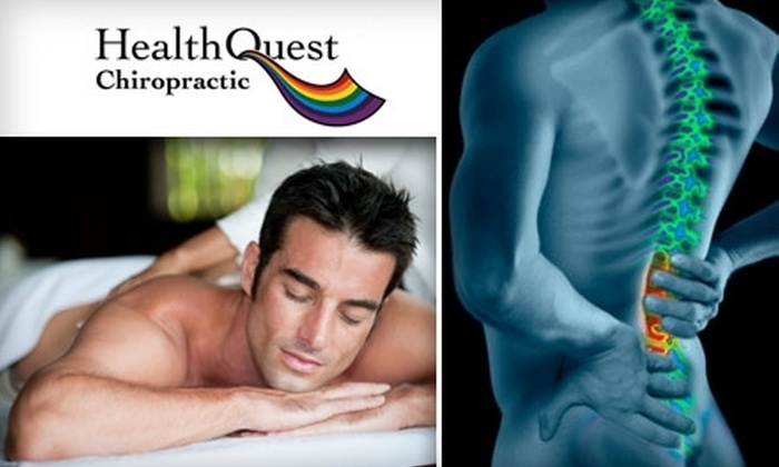 HealthQuest Chiropractic - Lockwood Heights: $49 for a Chiropractic Exam, Adjustment, and Therapeutic Massage at HealthQuest Chiropractic