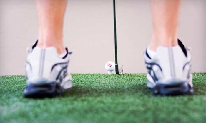 Score 18 Indoor Golf - Huntington: 18-Hole Indoor Golf-Simulator Outing for Two or Four at Score 18 Indoor Golf in Naperville (Up to 59% Off)
