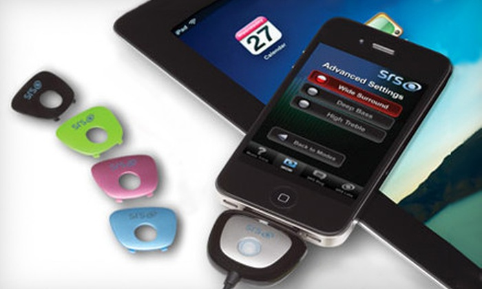 iWow 3D Audio Enhancer: $29 for an iWow 3D Audio Enhancer with 5 Interchangeable Colored Faceplates for use with iPhone, iPad, and iPod from SRS Labs ($69.99 Value). Ships in 12 Days. May Not Arrive by 12/24.