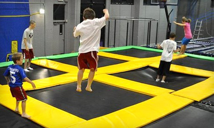 Get Air Sports - Roy: Indoor Trampoline-Park Outing for Two, Four, or Six or Two-Hour Facility Rental at Get Air Sports in Roy (Up to 58% Off)