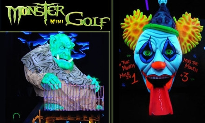 Monster Mini Golf - Norwood: $15 for Four Ghoul-Infused Rounds of Monster Mini Golf (Up to $30 Value)