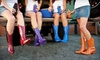 Stadium Stompers: $27 for One Pair of Women's Western-Style Rain Boots from Stadium Stompers ($54.95 Value)