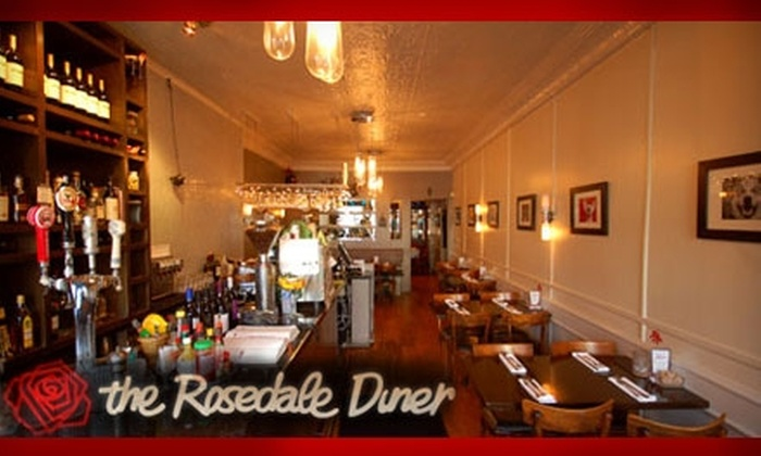 The Rosedale Diner - Toronto (GTA): $15 for $30 Worth of Gourmet Dinner and Drinks at The Rosedale Diner