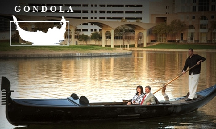 Gondola Adventures, Inc. - Multiple Locations: $59 for a One-Hour Gondola Ride for Two People on Mandalay Canal and Lake Carolyn in Las Colinas from Gondola Adventures, Inc. ($135 Value)