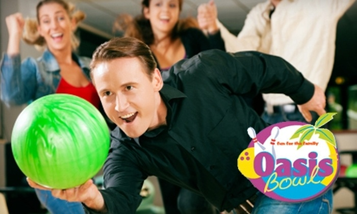 Oasis Bowling Center - Multiple Locations: $29 for a Fun for All Bowling Package at Oasis Bowling Center (Up to $74 Value)