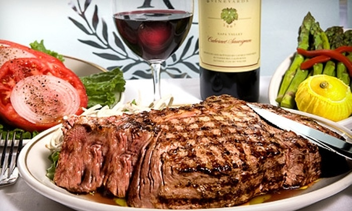 The Prime Rib - Mid-Town Belvedere: $50 for $100 Worth of Steak, Seafood, and Drinks at The Prime Rib