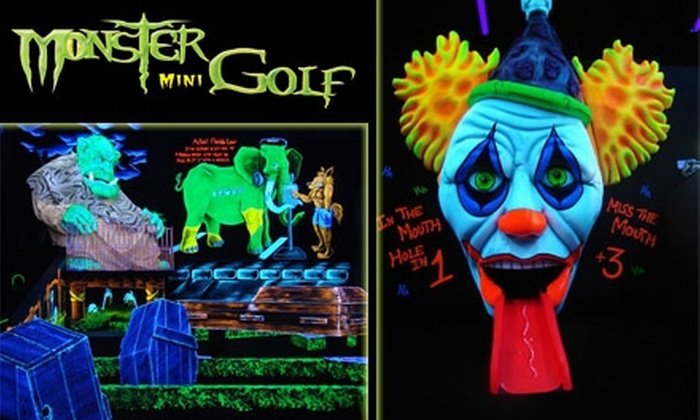 Monster Mini Golf  - New Port Richey: $15 for 4 Ghoul-Infused Rounds of Monster Mini Golf ($30 Value)
