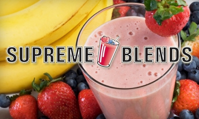 SUPREMEBLENDS - Commack: $7 for $15 Worth of Smoothies and More at SUPREMEBLENDS in Commack