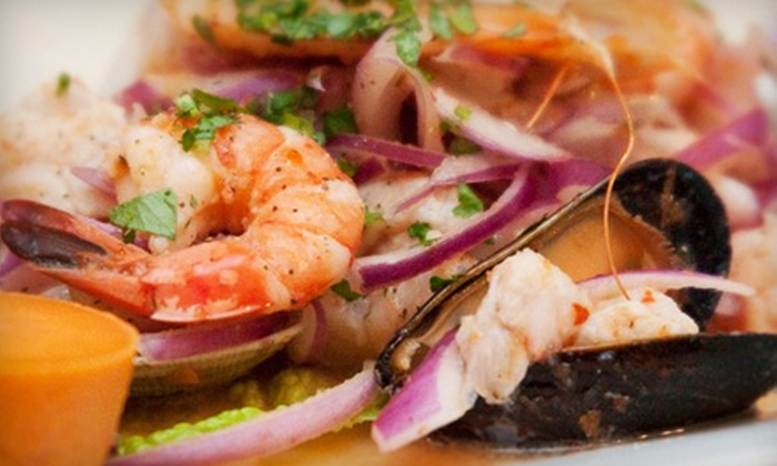 Wasiiki Peruvian Restaurant - Hillsdale: $10 for $22 Worth of Peruvian Fare and Drinks at Wasiiki Peruvian Restaurant in San Mateo