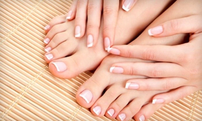 A Touch of Heaven Salon Massage & Day Spa - Whitewater: $40 for a Deluxe Manicure, Deluxe Pedicure, and Paraffin Dip at A Touch of Heaven Salon Massage & Day Spa in Miamitown ($80 Value)