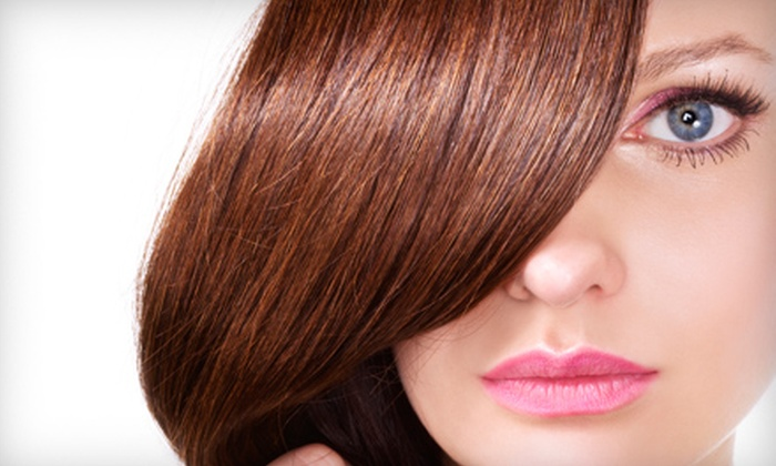 Luxe the Salon - Shorewood: Cut, Cut and Partial Highlights, or Organic Keratin Treatment at Luxe the Salon in Shorewood