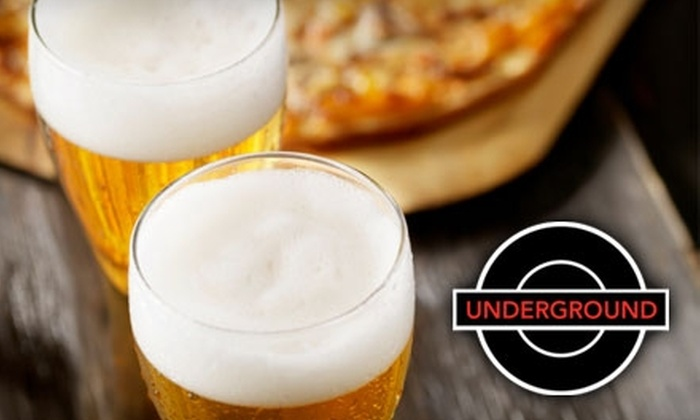 The Underground - Capitol View South: $10 for $25 Worth of Pizza and Drinks at The Underground