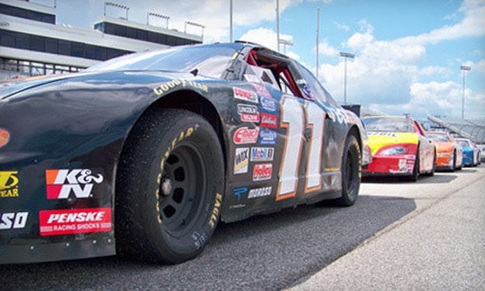Rusty Wallace Racing Experience - Elko New Market: Shotgun Ride-Along or The Shootout from Rusty Wallace Racing Experience at Elko Speedway (Up to 51% Off)