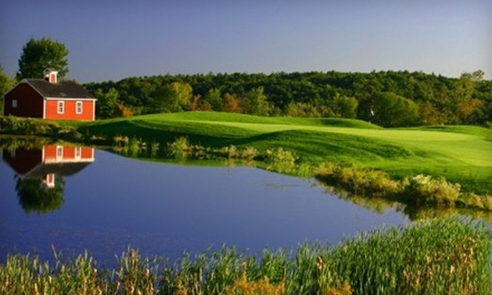Blackstone National Golf Club - Sutton: $120 for Golf for Two, Unlimited Range Use, a Dinner Voucher, and More at Blackstone National Golf Club in Sutton (Up to $244.98 Value)