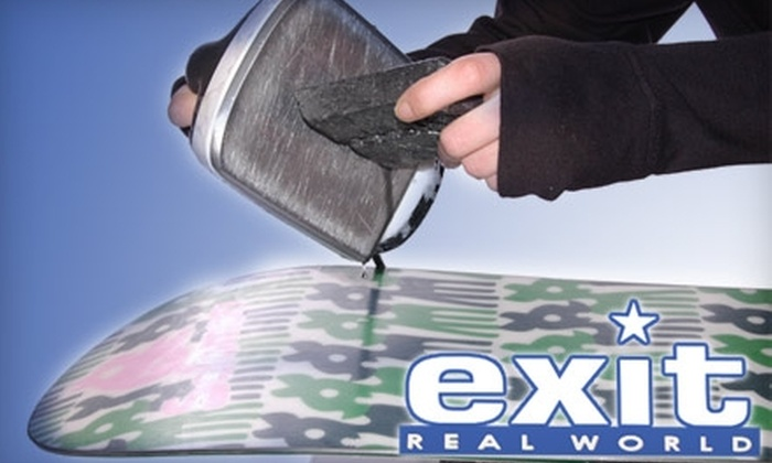 Exit Real World - Multiple Locations: $20 for $50 Toward Ski or Snowboard Tune Ups, Plus 10% Off In-Store Merchandise at Exit Real World