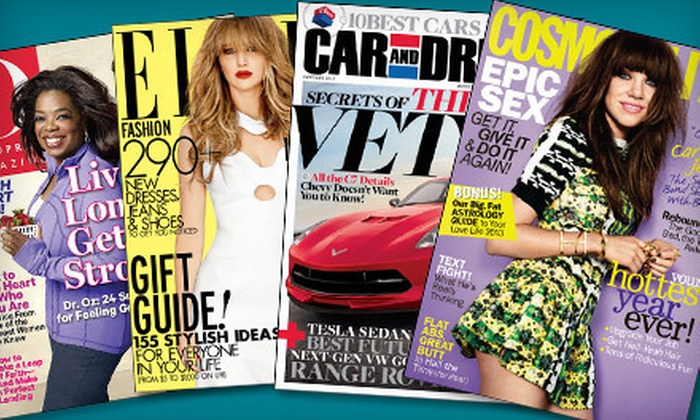 Hearst Magazines: $5 for a Six-Month or One-Year Magazine Subscription from Hearst Magazines (Up to $15 Value). 17 Titles Available.