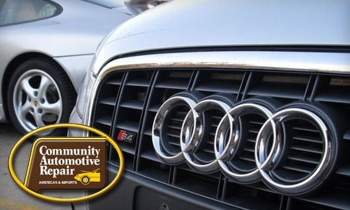 Community Automotive Repair - East Hills: $45 for Oil Change, Tire Rotation, Inspection, Wiper Blades, and Hand Wash at Community Automotive Repair (Up to $137 Value)