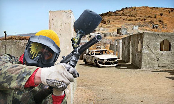 Jungle Island Paintball Park - Temescal Valley: Paintball Outing for One, Two, or Four or One Admission to Jungle Island Paintball Park in Lake Elsinore (Up to 66% Off)
