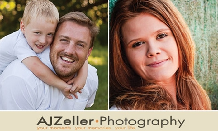 AJZeller Photography - Omaha: $40 for $230 Toward an On-Location Photography Session and Prints from AJZeller Photography