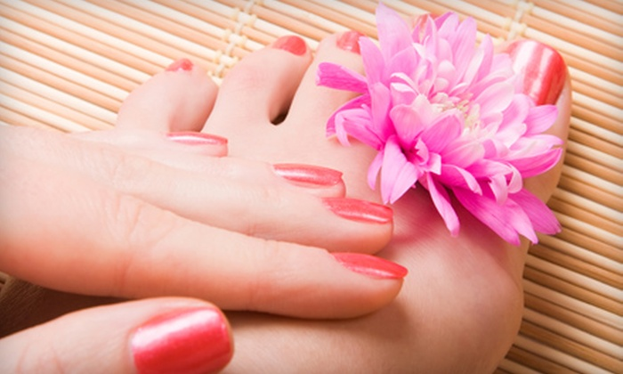 Victoria V Salon & Spa - Bustleton: Mani-Pedi, Haircut and Color, or Mani-Pedi with Haircut and Color at Victoria V Salon & Spa