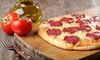 New York Pizza and Pasta - Naples: $14 for an Extra-Large Cheese Pizza and Two Glasses of House Wine at New York Pizza and Pasta (Up to $28 Value)