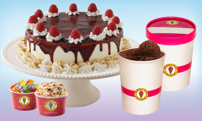 Marble Slab Creamery - West Edmonton Mall - West Edmonton Mall: 2 Small Ice Creams or FroYo, 2 Litres of Ice Cream, or an Ice-Cream Cake at Marble Slab Creamery (Up to 37% Off)
