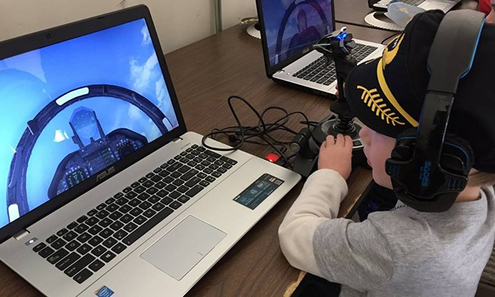 AviationEd - Manassas: One- or Two-Hour Flight Simulator Party for Up to 10 Children at AviationEd (34% Off)