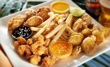 Appetizers and Draft Beers for Two or Four at Hurricane Grill & Wings (Up to 54% Off)