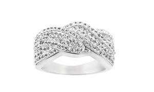 Crystal Twist Ring Made With Swarovski Elements