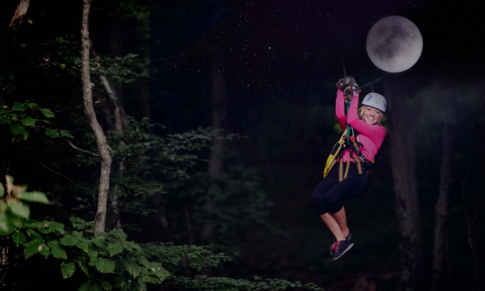 Tree Top Zip Tours - Middleburg: Full Moon Zip Line Tour for One or Two at Tree Top Zip Tours (Up to 43% Off)