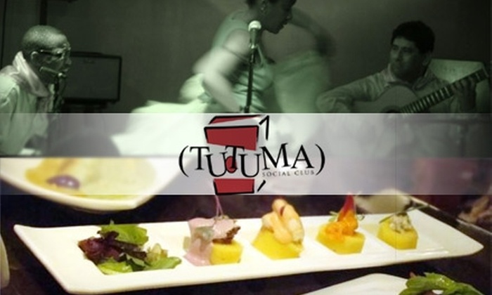 Tutuma Social Club - Midtown Center: $25 for $50 Worth of Contemporary Peruvian Cuisine, Drinks, and Live Afro-Peruvian Jazz at Tutuma Social Club