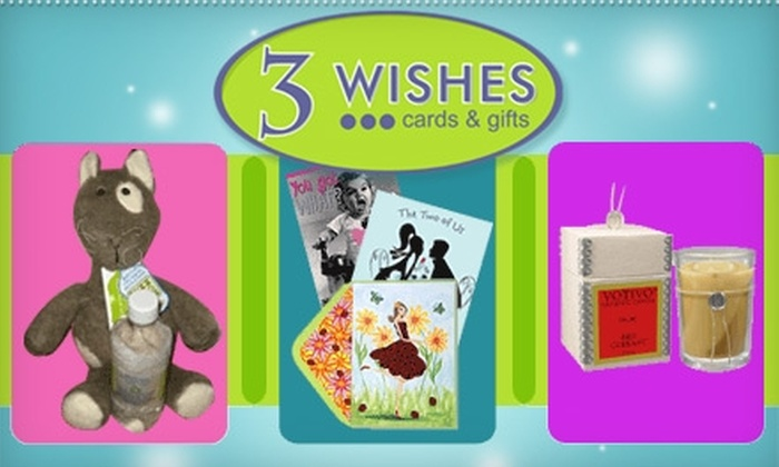 3 Wishes Cards and Gifts - Alameda: $10 for $20 Worth of Gifts, Greeting Cards, Accessories, and More at 3 Wishes Cards and Gifts