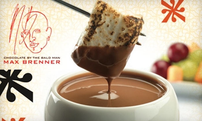 Max Brenner, Chocolate by the Bald Man - Center City West: $14 for $28 Worth of Sweet and Savory Fare at Max Brenner, Chocolate by the Bald Man