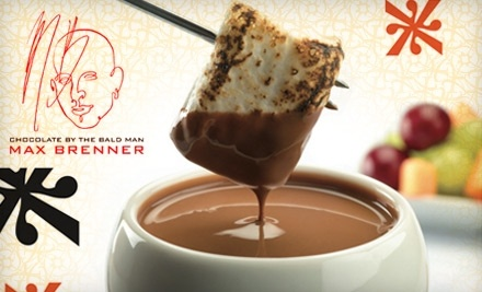 $28 Groupon to Max Brenner, Chocolate by the Bald Man - Max Brenner, Chocolate by the Bald Man in Philadelphia