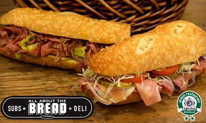 All About the Bread - Los Angeles: $10 for $20 Worth of Sandwiches and More at All About the Bread