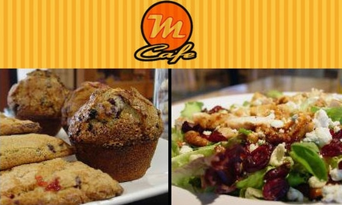 M Café - Sawmill Area: $7 for $15 Worth of Sandwiches, Paninis, Drinks, and More at M Café