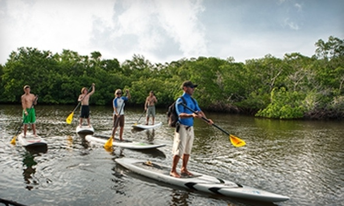 True Blue Water Sports - North Naples: $29 for a Four-Hour Stand-Up-Paddleboard Rental from True Blue Water Sports ($60 Value)