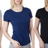 6-Pack of Agiato Women's Cotton Crew Neck T-Shirts