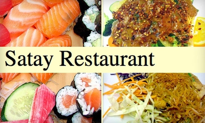 Satay - Lakeview: $15 for $30 Worth of Asian Fare and Drinks at Satay Restaurant