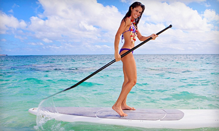 Live2kite - Multiple Locations: Two-Hour Standup-Paddleboard Lesson for One or Two at Live2kite (51% Off)