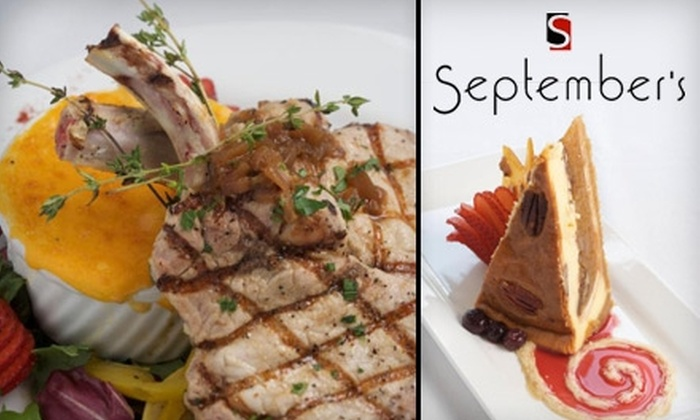 September's Restaurant - Hendersonville: $15 for $30 Worth of Upscale Fare at September's Restaurant