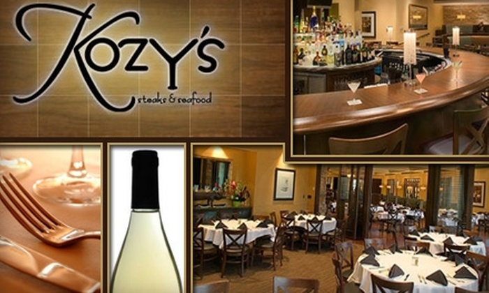 Kozy's Steakhouse and Seafood - Edina: $25 for $50 Worth of American Fare and Drinks at Kozy's Steaks and Seafood