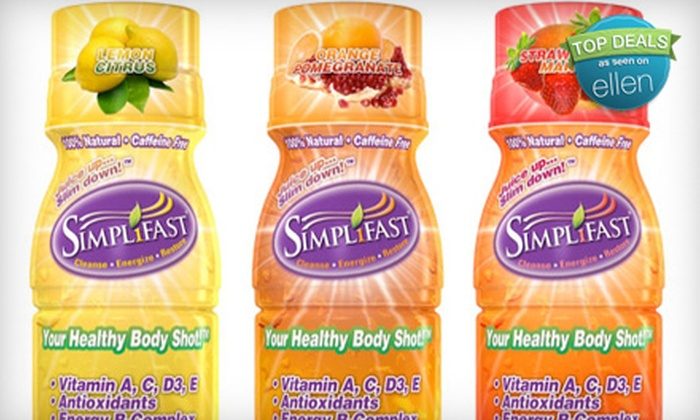 Simplifast : $35 for 24 Juice Diet Shots from Simplifast ($69.99 Value)