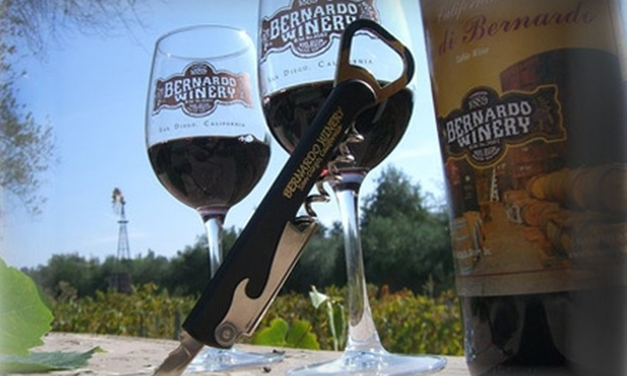 Bernardo Winery - Rancho Bernardo: $8 for a Wine Tasting for Two at Bernardo Winery ($16 Value)