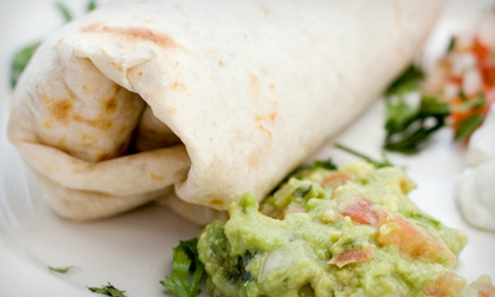 North of the Border Mexican Restaurant - Bartlett: Burrito Meal for Two or Four at North of the Border Mexican Restaurant in Bartlett (Up to 55% Off)