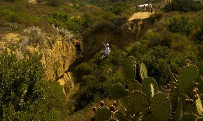 The Irvine Ranch Outdoor Education Center - Orange: $37 for Zipline Adventure for Up to 10 at The Irvine Ranch Outdoor Education Center in Orange ($75 Value)
