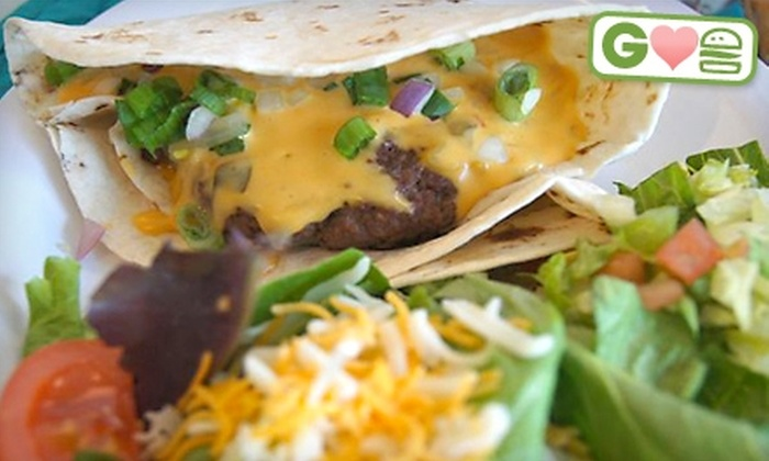 Bailey's on the Beach - Albuquerque: $5 for $10 Worth of Tsunami Queso Burgers and Drinks at Bailey's on the Beach