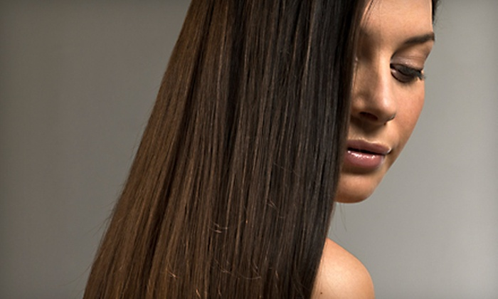 Up In Tangles Salon - Northwest Harris: Haircut with Conditioning or Choice of Color or Partial Highlights at Up In Tangles Salon in Cypress (Up to 57% Off)